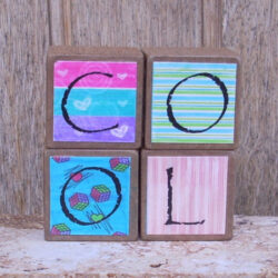 Decorated Wooden Blocks - Cool