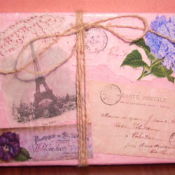French Postcard Mixed Media Canvas