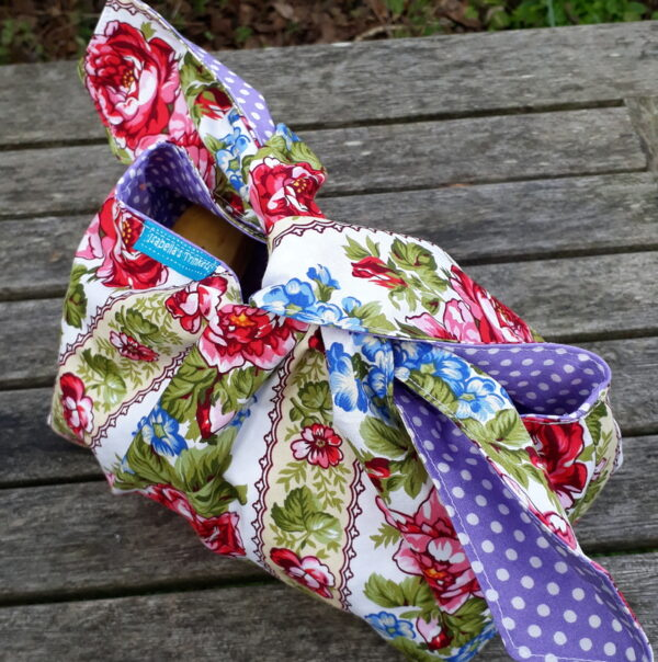 Floral stripe lunch bag