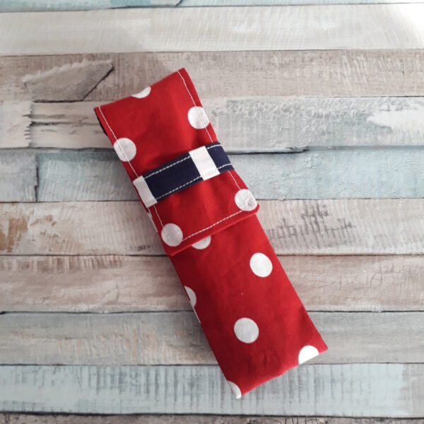Red Penny Spot Cutlery Pouch