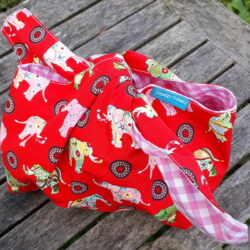 red elephant lunch bag