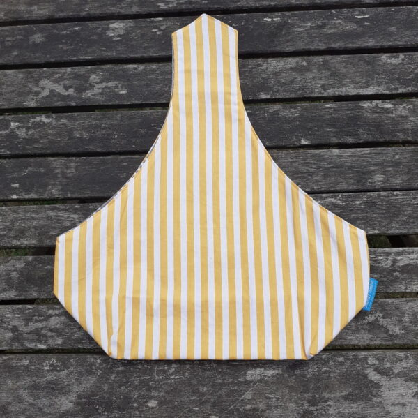 Yellow stripe lunchbag