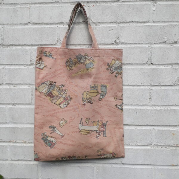 vintage pie tote bag