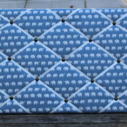 blue mini elephant fabric pinboard