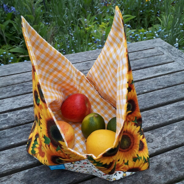 sunflower bento bag