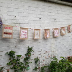 hessian bunting pink