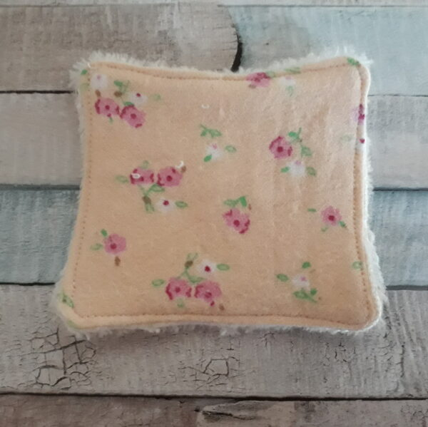 reusable face wipe yellow floral